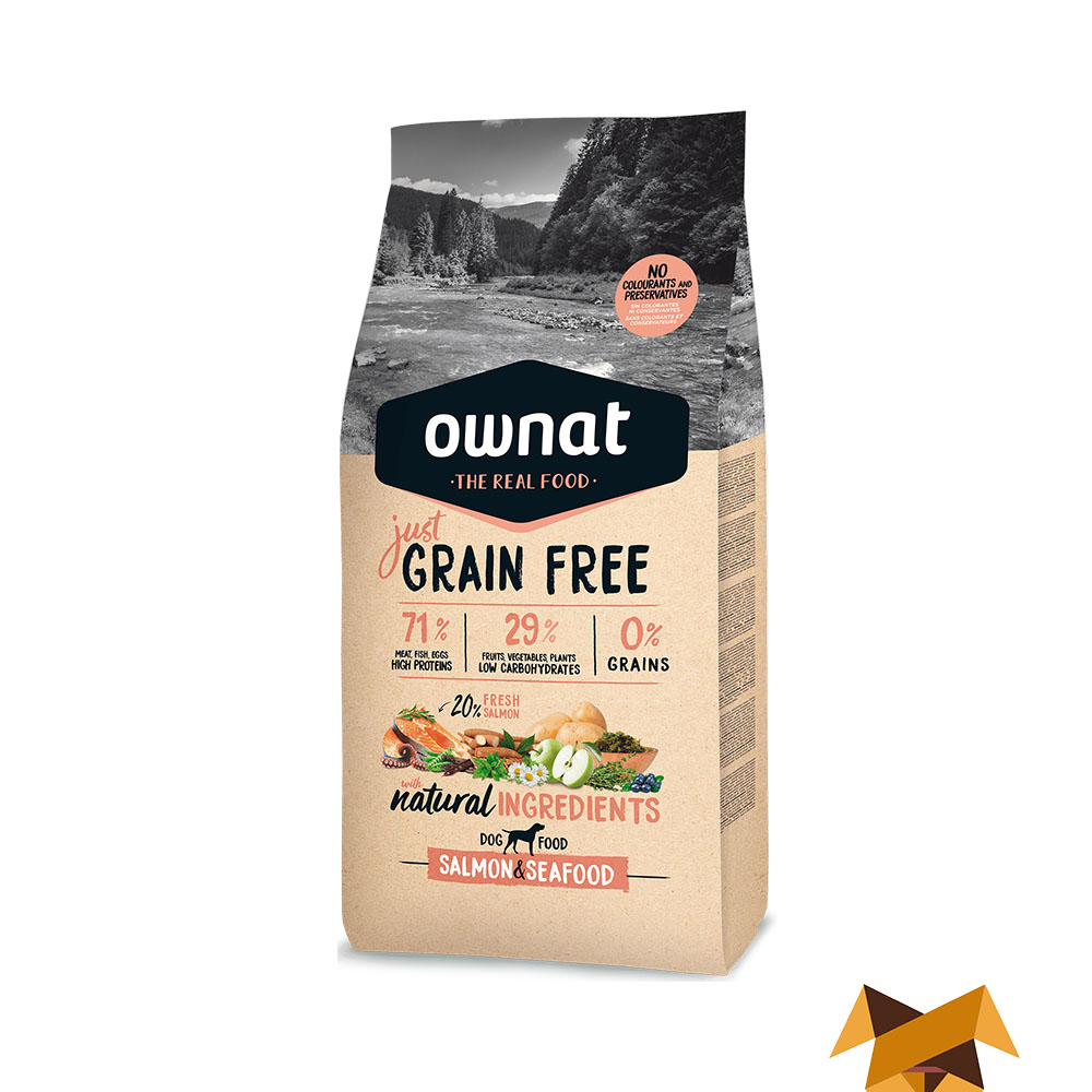 Ownat Just Grain Free Salmon y Marisco