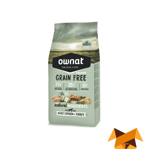 Ownat prime grain free adult chicken and turkey